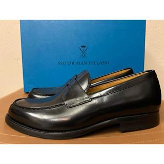 新品 ストール マンテラッシ コインローファー  革靴 ガラスレザー