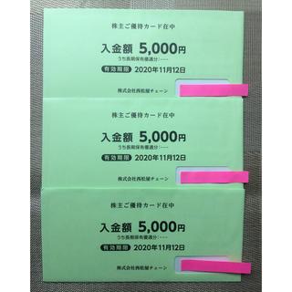 ニシマツヤ(西松屋)の西松屋 株主優待 ¥15,000分 (ショッピング)