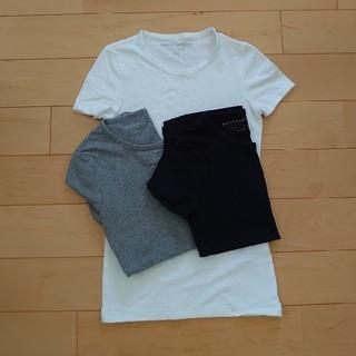 バナナリパブリック(Banana Republic)のバナナリパブリックXXS半袖Tシャツ3枚セット紺グレー白(Tシャツ(半袖/袖なし))