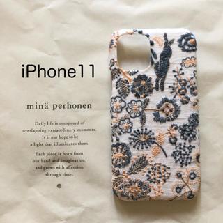 ミナペルホネン(mina perhonen)のミナペルホネン セレブレイトiPhone11ケース(iPhoneケース)