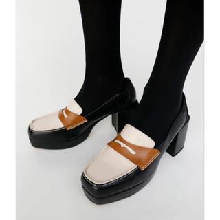 マウジー(moussy)のmoussy PLATFORM ローファー サンダル(ローファー/革靴)