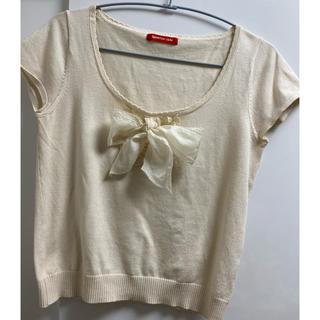 アプワイザーリッシェ(Apuweiser-riche)のリボンTシャツ(Tシャツ(半袖/袖なし))