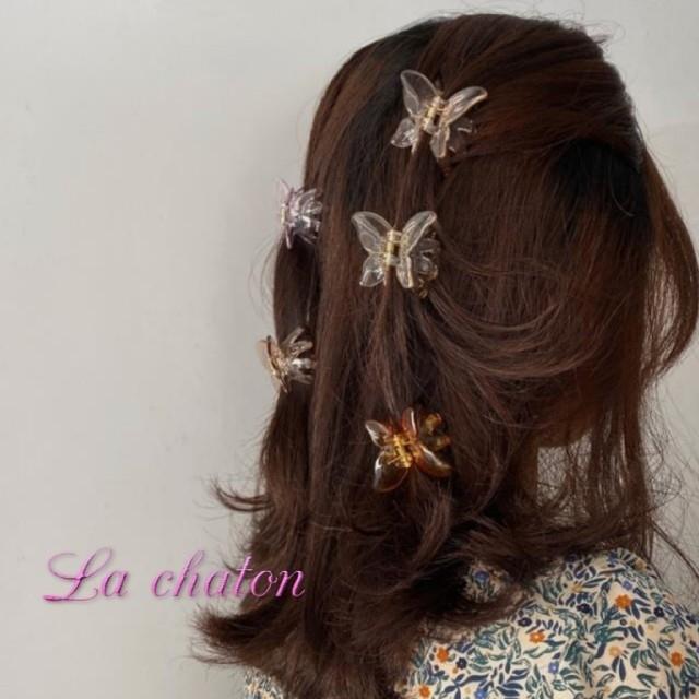 Lochie(ロキエ)の🎀  蝶々  ヘアクリップ   レディースのヘアアクセサリー(バレッタ/ヘアクリップ)の商品写真