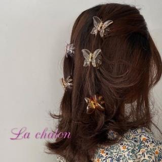 Lochie - 🎀  蝶々  ヘアクリップ  クリア