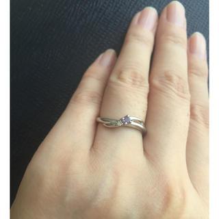 クミキョク(kumikyoku(組曲))のプラチナ ダイヤ アメジスト リング 9号(リング(指輪))