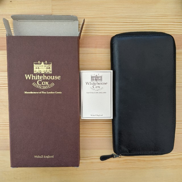 WHITEHOUSE COX(ホワイトハウスコックス)のホワイトハウスコックス ラウンドジップウォレット  長財布 黒 メンズのファッション小物(長財布)の商品写真