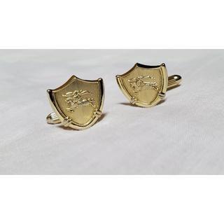 バーバリー(BURBERRY)の正規 バーバリー 騎士 ヘリテージ ホース×シールドカフス ゴールド 盾ボタン(カフリンクス)