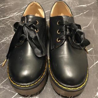 グレイル(GRL)のGRL/厚底レースアップシューズ/23cm(ローファー/革靴)