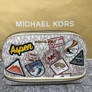 マイケルコース(Michael Kors)のMichael Kors TRAVELPOUCH トラベルポーチ バニラホワイト(ポーチ)