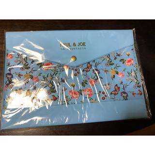 ポールアンドジョー(PAUL & JOE)のポール&ジョー・パペトリー ステーショナリーケースA5  ブルー 花柄(ファイル/バインダー)