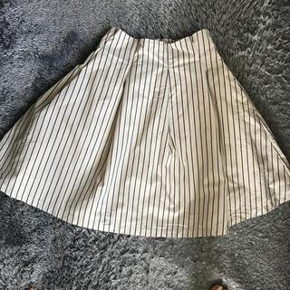 ストライプスカート (ひざ丈スカート)