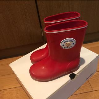 ファミリア(familiar)のファミリア 赤長靴15.0センチ(長靴/レインシューズ)