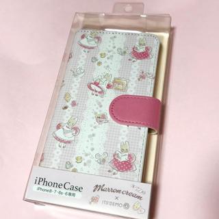 イッツデモ(ITS'DEMO)のマロンクリーム   サンリオ 手帳型iPhoneケース スマホケース (iPhoneケース)