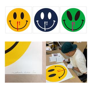 MADSAKI新作版画 「HAPPINESS OVERDOSE」3カラーセット(版画)