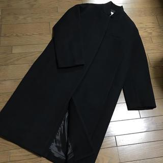 ルシェルブルー(LE CIEL BLEU)のルシェルブルー ブラック黒ソフトメルトンチェスターバルーンコート(チェスターコート)