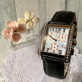 フェンディ(FENDI)の【美品】FENDI フェンディ 腕時計 7500G ダイヤベゼル クロノグラフ(腕時計(アナログ))