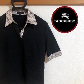 バーバリー(BURBERRY)の【美品】三陽商会BURBERRYバーバリー★ノバチェックポロシャツ★2号(ポロシャツ)