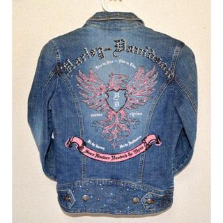 ハーレーダビッドソン(Harley Davidson)の美品 ハーレーダビッドソンXSデニムジャケット Gジャン レディース女性 バイク(Gジャン/デニムジャケット)