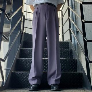 ジョンローレンスサリバン(JOHN LAWRENCE SULLIVAN)のヴィンテージ スラックス トラウザー ワイドパンツ パープル(スラックス)