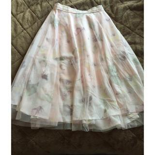 リズリサ(LIZ LISA)の花柄膝丈スカート(ひざ丈スカート)