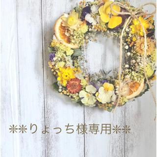 りょっち様専用【ドライフラワーリース#18】(ドライフラワー)