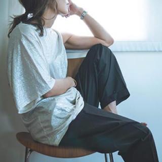 フィーニー(PHEENY)のPHEENY '20ss foiled linen asymmetry tops(Tシャツ(半袖/袖なし))