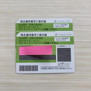 エーエヌエー(ゼンニッポンクウユ)(ANA(全日本空輸))のスターフライヤー 株主優待券2枚 1枚750円(航空券)