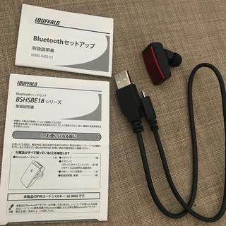 バッファロー(Buffalo)のバッファロー Bluetooth ヘッドセット BSHSBE18(その他)