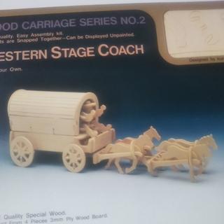 ディズニー(Disney)の幌馬車 木製 模型 組立(模型/プラモデル)