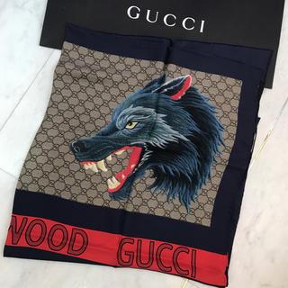 グッチ(Gucci)の☆新品☆GUCCI 大判スカーフ シルク GG柄 ウルフ(バンダナ/スカーフ)