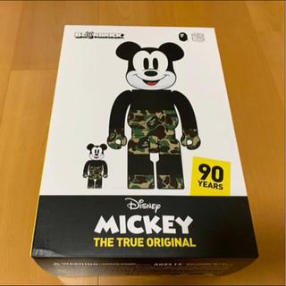 メディコムトイ(MEDICOM TOY)のエイプBAPE(R)ミッキーマウスMICKEY MOUSE 100%&400%(その他)