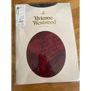 ヴィヴィアンウエストウッド(Vivienne Westwood)のVivienneWestwood ACCESORIES ハートボーダー柄タイツ(タイツ/ストッキング)