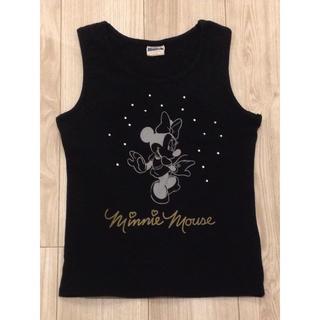 ミッキーマウス(ミッキーマウス)の未使用 ディズニー ミッキー ミニー タンクトップ Tシャツ 黒 ノースリーブ(Tシャツ(半袖/袖なし))