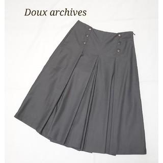 ドゥアルシーヴ(Doux archives)のDoux archives ガウチョパンツ グレー M(カジュアルパンツ)