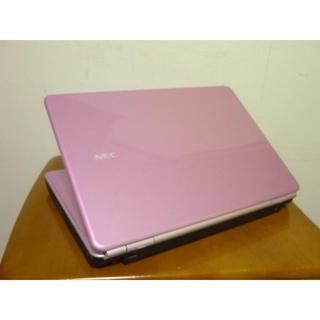 エヌイーシー(NEC)の美品可愛いピンクカラー 16型ワイド大画面 HDD500G 最新win10(ノートPC)