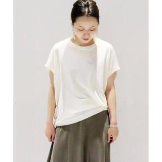 プラージュ(Plage)のプラージュ リヨセルハイゲージTシャツ ホワイト(Tシャツ/カットソー(半袖/袖なし))