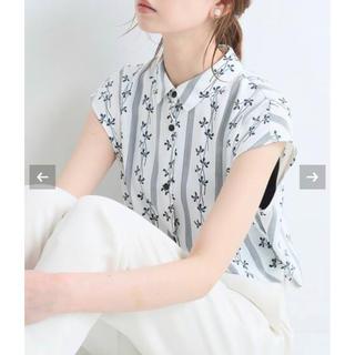 イエナ(IENA)のIENA☆DEVEAUX*sese ラウンドカラーシャツブラウスホワイト(シャツ/ブラウス(半袖/袖なし))