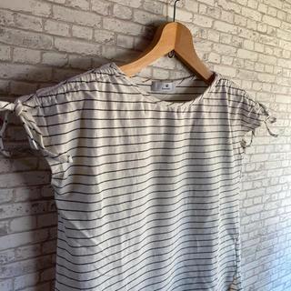 サニーレーベル(Sonny Label)のアーバンリサーチ サニーレーベル 袖シャーリング フレンチスリーブ Tシャツ(Tシャツ(半袖/袖なし))