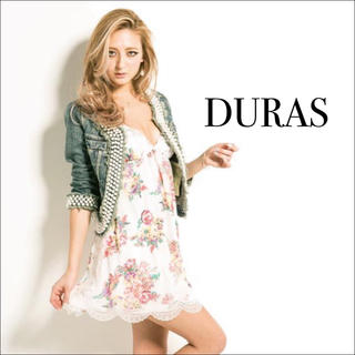 デュラス(DURAS)のDURAS バックリボンフラワーキャミ ワンピース♡RESEXXY リエンダ(ミニワンピース)
