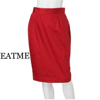 イートミー(EATME)の【EATME】イートミー タイトスカート 赤 膝丈 ペンシルスカート(ひざ丈スカート)