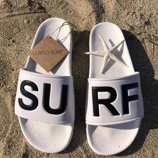 ロンハーマン(Ron Herman)の海で便利☆LUSSO SURF シャワーサンダル 白41☆ベナッシ(サンダル)
