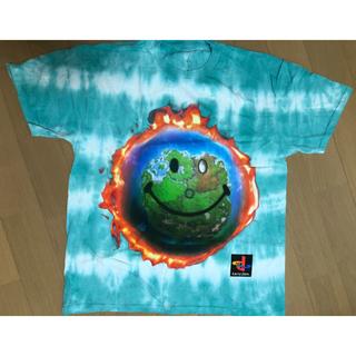 ナイキ(NIKE)のTravis scott WORLD TIE DYE T-SHIRT Lサイズ(Tシャツ/カットソー(半袖/袖なし))
