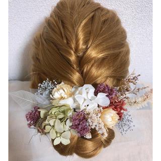 ドライフラワー髪飾り #18(ヘッドドレス/ドレス)