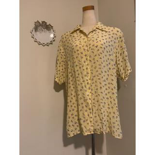 ロキエ(Lochie)のvintage silk 花柄 半袖シャツ(シャツ/ブラウス(半袖/袖なし))