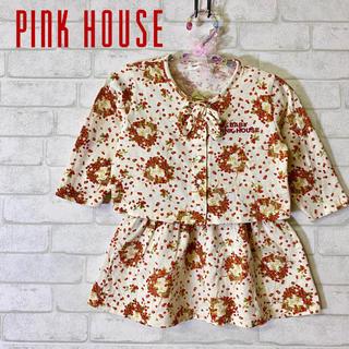 ピンクハウス(PINK HOUSE)の【BABYPINKHOUSE】ベビーピンクハウス 苺柄 セットアップ/90cm(その他)