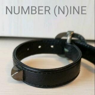 ナンバーナイン(NUMBER (N)INE)のNUMBER (N)INE 1スダッズレザーリストバンド(バングル/リストバンド)