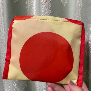 モリナガニュウギョウ(森永乳業)の未使用エコバッグ 赤と黄色の水玉模様(エコバッグ)