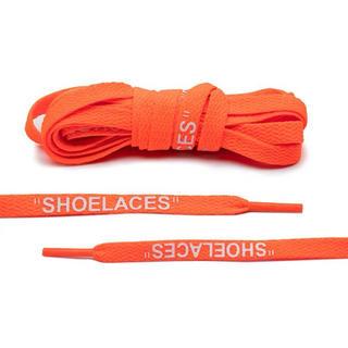 シューレース 靴紐 平紐 ライトオレンジ 120cm 一足分 左右異色可能(スニーカー)