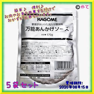 カゴメ(KAGOME)の週末セール❗5袋 カゴメ 野菜がはいった具入り調味料万能あんかけソース(レトルト食品)