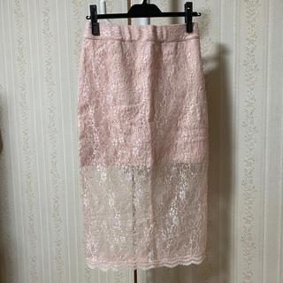 バブルス(Bubbles)のBUBBLES×中村里砂 コラボ レーススカート(ひざ丈スカート)